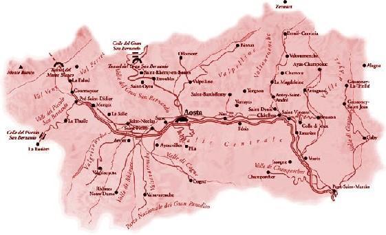 Cartina Stradale Valle D Aosta.Theflintstones It Vda Valle D Aosta Le Valli Della Valle D Aosta